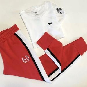 GRAPHIC TEE SKINNY JOGGER SWEAT PANTS SET